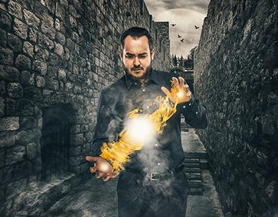 Composite portrait for Magician Kari.