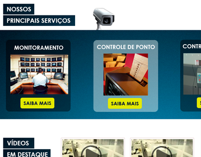 Website design for security company.