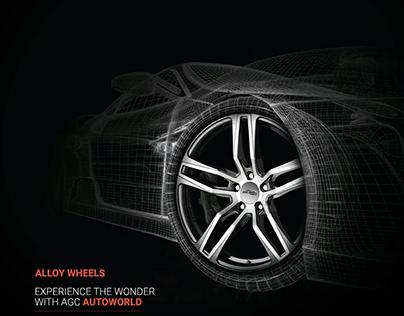 Alloy Wheels Advertisement Poster