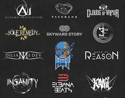 Logos for different bands