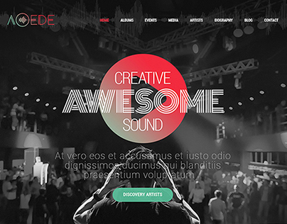Aoede Musician Template - Jupiter Wordpress Theme