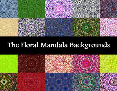 The Floral Mandala Backgrounds Bundle