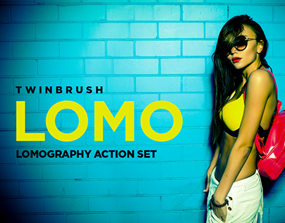 Lomograph effect action set for Photoshop.