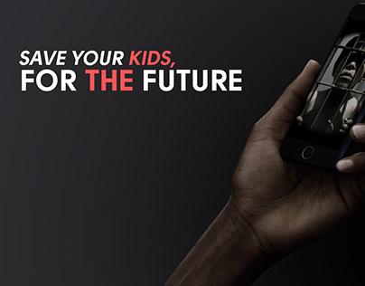 UNICEF Print Ads : Kids and Smartphone