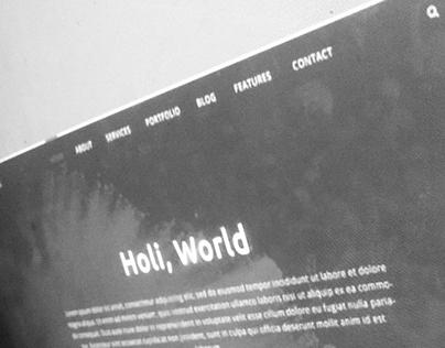 Holi - Free PSD Template