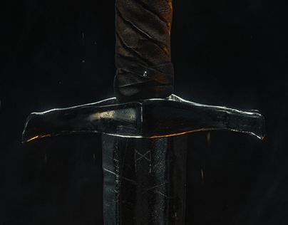 Medieval Skull Sword