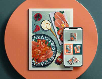 Editorial Food Illustration #06