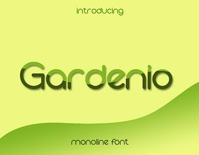 Gardenio - Monoline font
