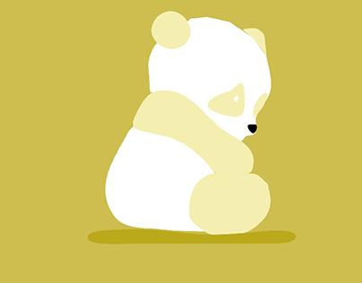 A sad bear