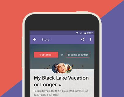 Selfish. Storytelling App.