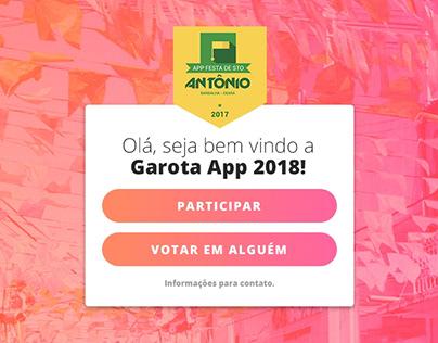 Layout PSD & HTML/CSS | Garota App 2018