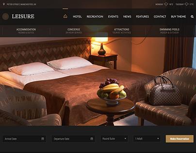 Hotel Leisure - Dark Hotel WordPress Theme