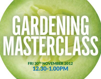 Gardening Masterclass Poster