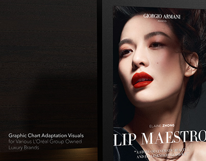 Graphic Chart Adaptations for L'Oréal Group Brands