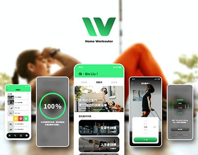 【UIUX/ Mobile/ Branding】Home Workouter APP