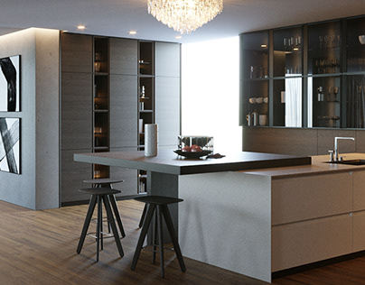 RENDER - Living room | Kitchen