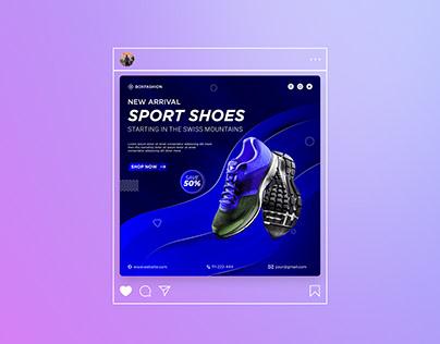 Shoe social media post