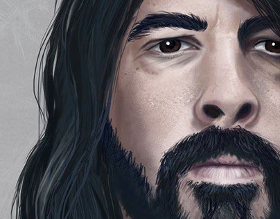 Digital Portrait - Dave Grohl