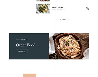 Restaurant Landing Page Design (Frontend HTML, CSS)