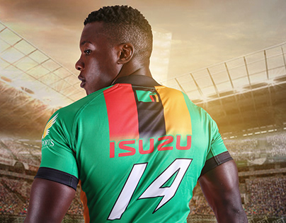 Zambia 7s Rugby kit design