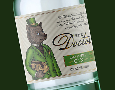 Labels for Tiny Bear Distillery