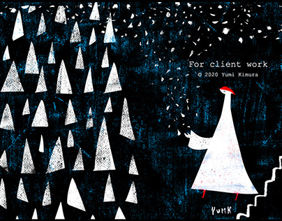 Illustration for postcard 雑貨ショップポストカード用イラスト制作