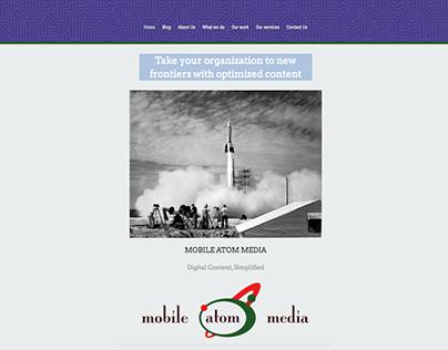 Mobile Atom Media Site Redesign