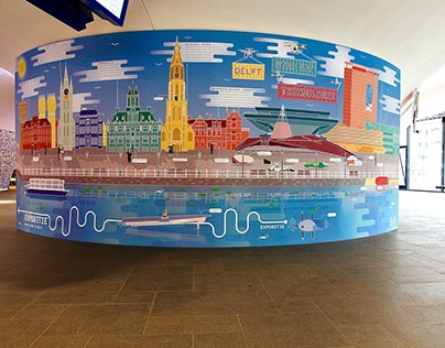 Poster Train Station Delft