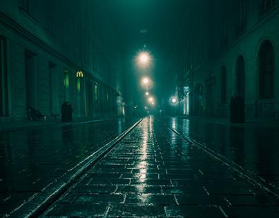 Krakow in the fog II