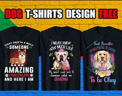 Dog T-Shirt Design Bundle Free Download