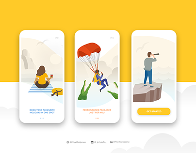 Onboarding for a Holiday App