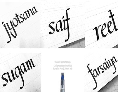 Roman Italic Calligraphy