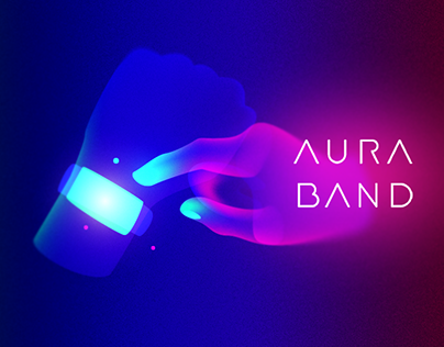AURA BAND Set of illustrations and icons