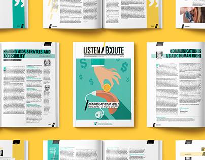 Listen/Écoute Magazine Layout