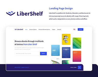 LiberShelf Landing Page Design