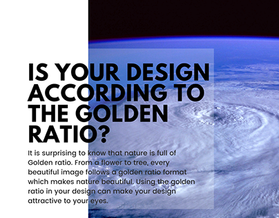 Is your design according to golden ratio?