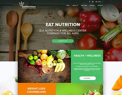 Eat Nutrition Web Concept UI