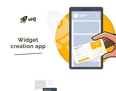 Widget creation app