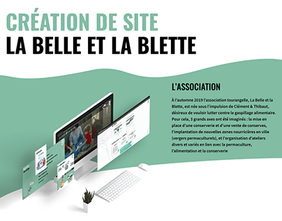 site vitrine - association La Belle et la Blette
