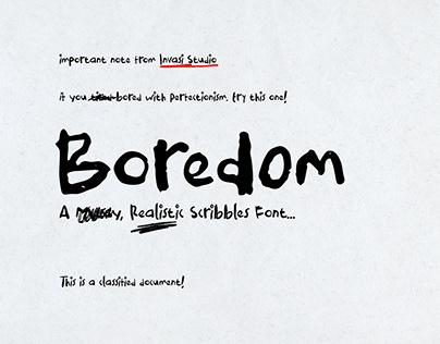 Boredom Handwritten Font