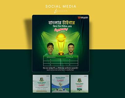 Social Media Banner for Bangladesh Cricket Team