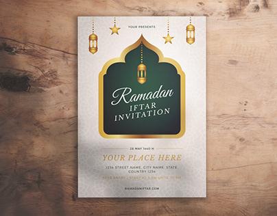 Ramadan Iftar Invitation Flyer