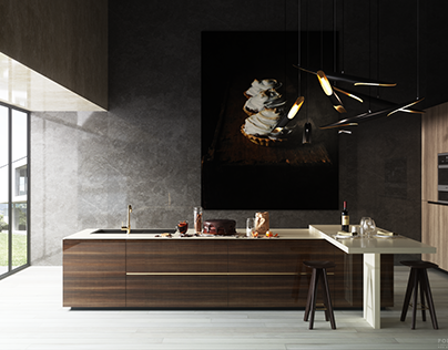Kitchen choc | corona render