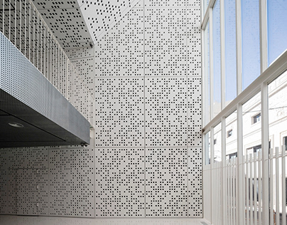 Perforated concrete panels