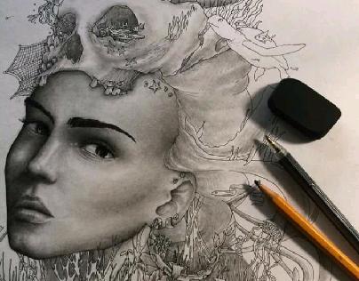 Organic Doodles (Aqua)