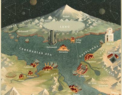 Map for The Dream-Quest of Vellitt Boe