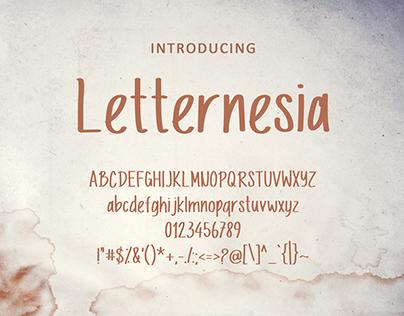 Letternesia Font