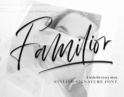Free Familior Signature Font
