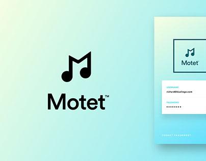 Motet™ Music Application - Identity and UI Design