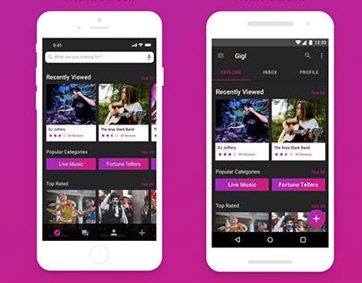 Gigl - Talent booking app
